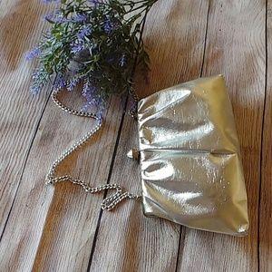 Vintage Silver Metallic Clutch